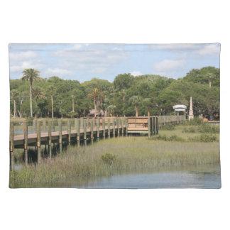 Ponce de Leon park in Florida dock Placemats