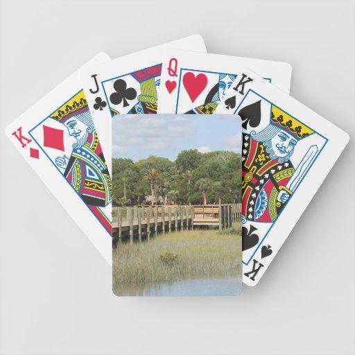 Ponce de Leon park in Florida dock Bicycle Card Deck