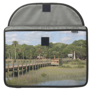 Ponce de Leon park in Florida dock Sleeves For MacBooks