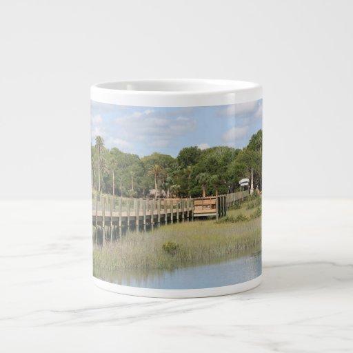 Ponce de Leon park in Florida dock Extra Large Mugs