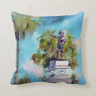 Ponce De Leon St Augustine Florida Oil Painting Pillow