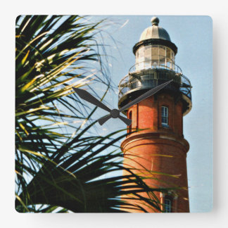 Ponce Inlet Lighthouse, Florida Square Wall Clock