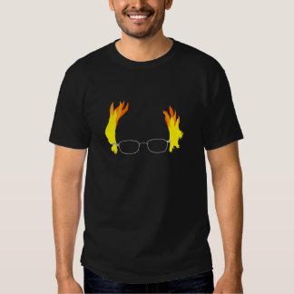 Ponceuses ardentes drôles de Bernie de cheveux T-shirts