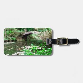 Pond Bridge Luggage Tag