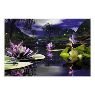 Pond Faerie By David and Michelle Wilder Poster