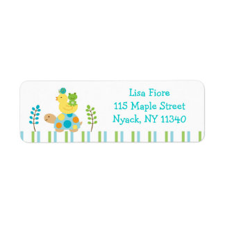 Pond Frog Turtle Address Labels