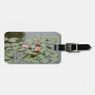 pond lotus flower leave luggage tag