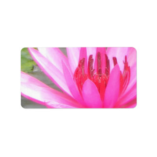 Pond Lotus Tranquility Namaste Blank Address Label