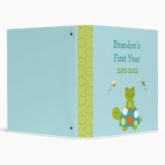 Pond Pals Frog Turtle Baby Photo Album Scrapbook Vinyl Binders