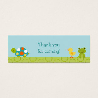 Pond Pals Frog Turtle Party Favor Gift Tags