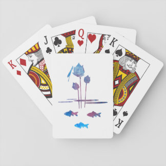 Pond Silhouettes Playing Cards