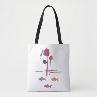 Pond Silhouettes Tote Bag