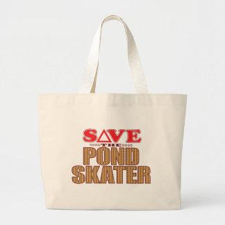Pond Skater Save Large Tote Bag
