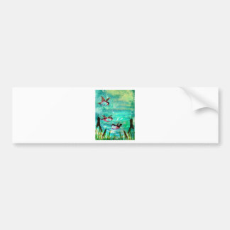 POND SPLASHING BUMPER STICKER