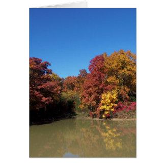 Pond & Trees/Happy Fall Card