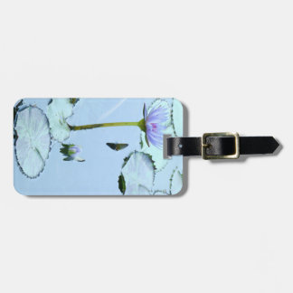 Pond Water Garden Waterlily Flower Floral Lilypads Bag Tag