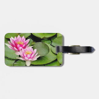 Pond Water Garden Waterlily Flower Floral Lilypads Luggage Tag