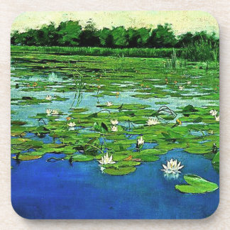 Pond Water Garden Waterlily Flower Lilypad Coaster