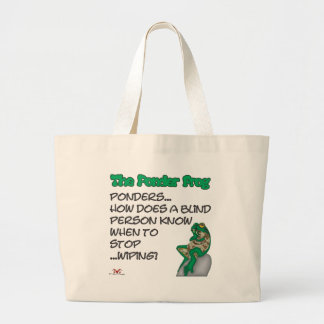 Ponder Frog Blind Large Tote Bag
