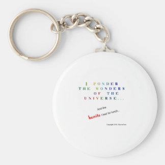 Ponder the Universe Basic Round Button Keychain