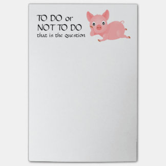 Pondering Pig Funny To Do List Post-it Notes