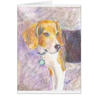 Pondering Pup Card