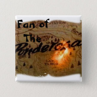ponderosa map burning, Fan of                  ... 2 Inch Square Button