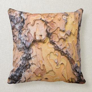 Ponderosa pine bark, Washington Throw Pillow
