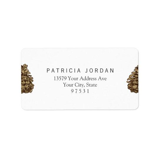 Ponderosa Pine Cone Label