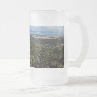 Ponderosa @ Pine Devils Tower Wyoming Frosted Glass Beer Mug