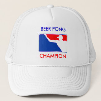 PONG, BEER PONG , CHAMPION TRUCKER HAT