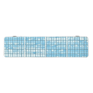 Pong Table with silver blue glass pattern