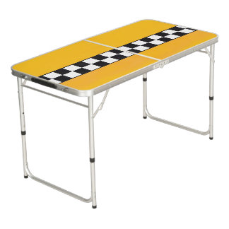 Pong Table with yellow Taxi background