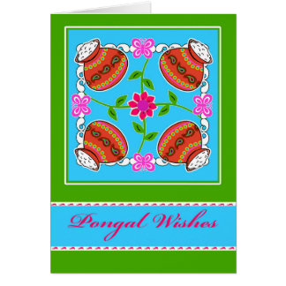 Pongal Wishes, Kolam Inspired Indian Design Card