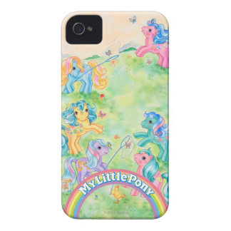 Ponies Catching Butterflies iPhone 4 Case-Mate Cases