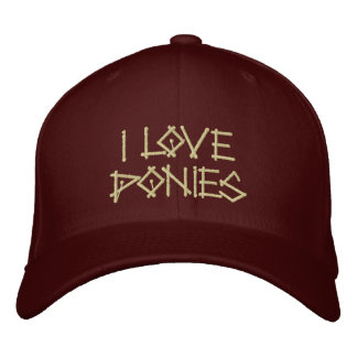 PONIES EMBROIDERED HATS