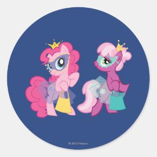 Ponies in Halloween Costumes Round Sticker