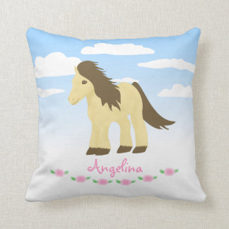 Ponies n Roses Pillow - Pony Nursery/Bedroom Theme