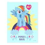 Ponies Rock Postcard