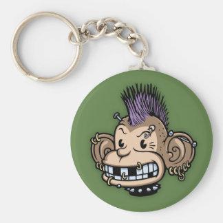 Ponkey Basic Round Button Keychain