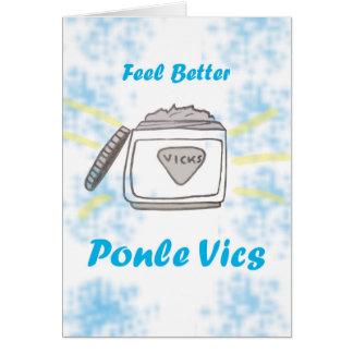 """Ponle Vics"" Card"