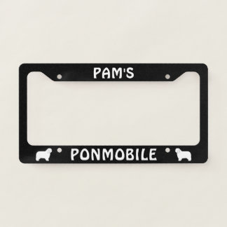 PONMOBILE Polish Lowland Sheepdogs Custom License Plate Frame