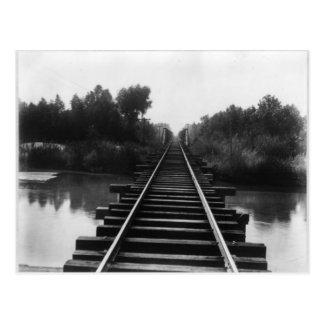 Pont 1800's en chemin de fer cartes postales