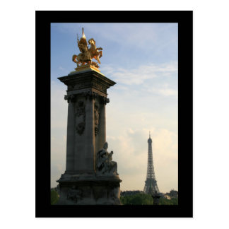 Pont Alexandre III Detail Postcard