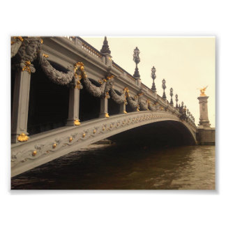 Pont Alexandre III (Paris) in sepia tones Photo Print