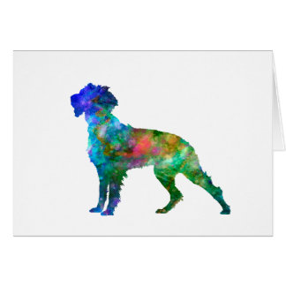 Pont Audemer Spaniel in watercolor Card