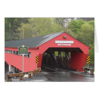 Pont couvert de Taftsville Vermont Cartes
