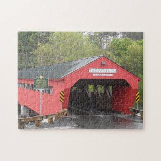 Pont couvert de Taftsville Vermont Puzzles Avec Photo