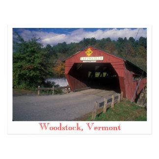 Pont couvert de Taftsville, Woodstock, Vermont Carte Postale