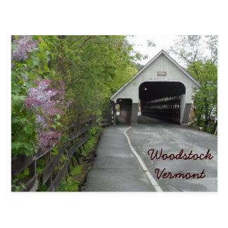 Pont couvert de Woodstock, Vermont Cartes Postales